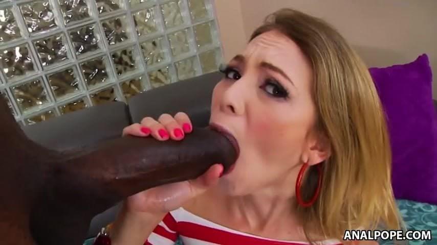 Blonde Black Cock Lingerie