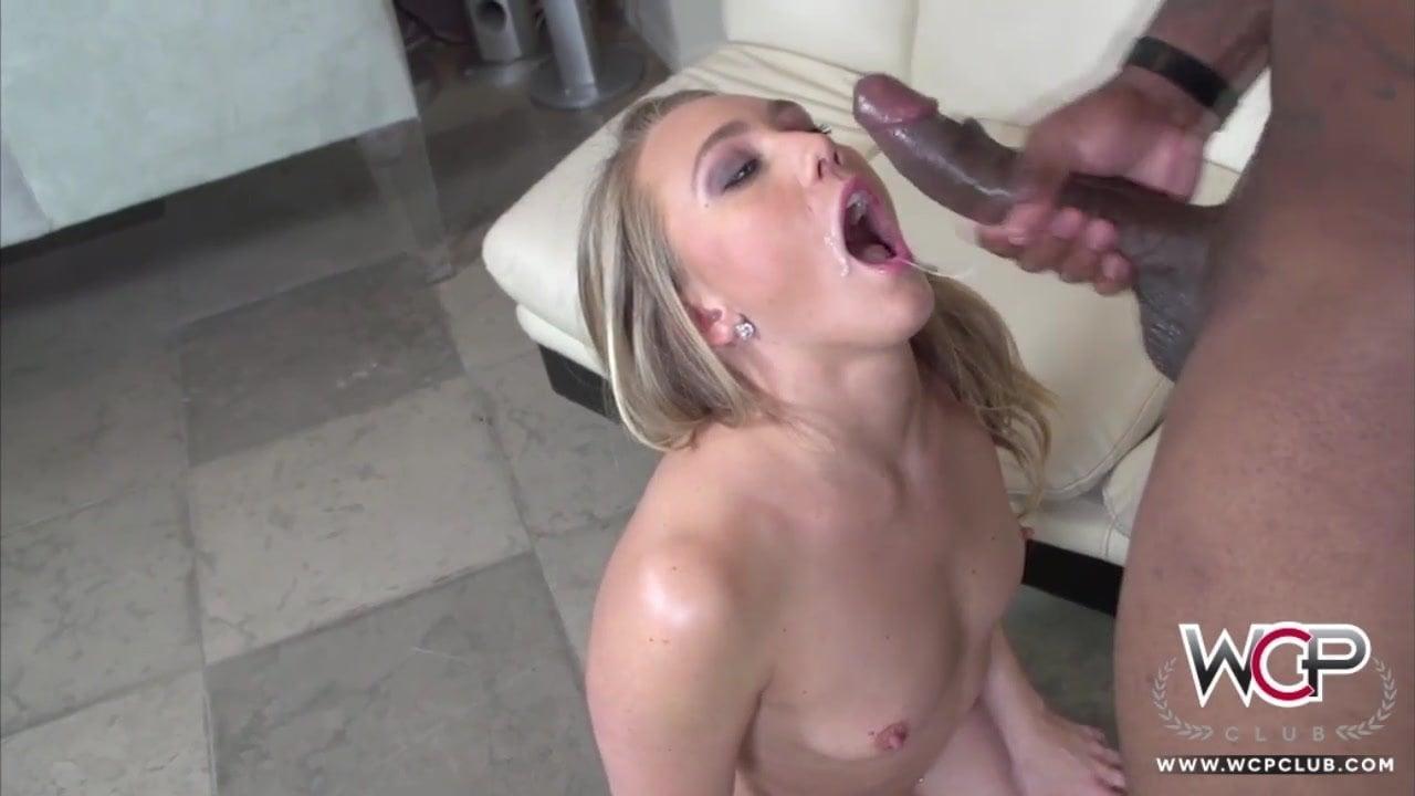 Hot Blonde Rides Black Cock