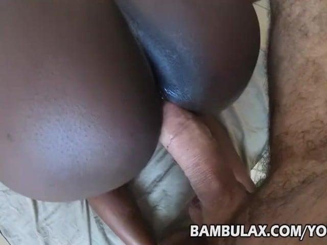 Ebony Teen Cant Take Big Dick
