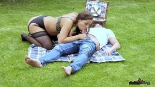 Sofia Lee Fucks this Guy in the Park while you Watch! | PornMega.com