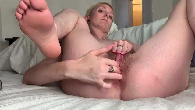 Rubbing Cock Cumming Pussy