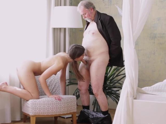 Man and girl having sex